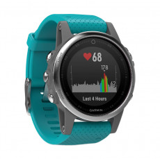Garmin Fenix 5S GPS Watch Silver with Turquoise Band