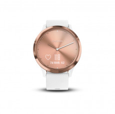 Garmin Vivomove HR Rose Gold White Silicone Band Sport Small / Medium 010-01850-02
