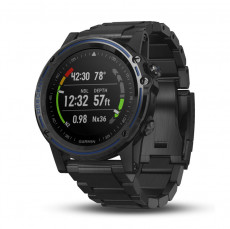 Garmin Descent MK1 Silver Sapphire with Black Band - 010-01760-01