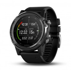 Garmin Descent MK1 Silver Sapphire with Black Band - 010-01760-10