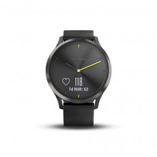 Garmin Vivomove HR Black with Black Silicone Band Sport Large - 010-01850-01