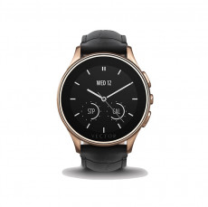 Vector Luna Pol Rose Gold With Black Padded Croco Strap Smart Watch