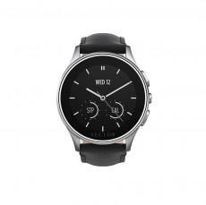 Vector Luna Steel With Black Padded Leather Smart Watch