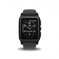 Vector Meridian Black Silicone Sport Smart Watch