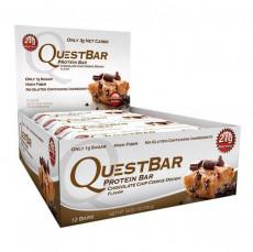 Quest Nutrition Protein Bars Chocolate Chip Cookie Dough Pack Of 12