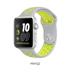 Apple Watch Nike+ 42mm Silver Aluminum Case with Flat Silver/Volt Nike Sport Band (MNYQ2)