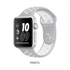 Apple Watch Nike+ 42mm Silver Aluminum Case with Flat Silver/White Nike Sport Band (MNNT2)