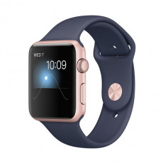 Apple Watch Series 2 42mm MNPL2 Rose Gold Aluminum Case / Midnight Blue Sport Band