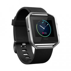 Fitbit Blaze Black Silver Small Fitness GPS Connected Watch with Heart Rate Monitor Classic Band