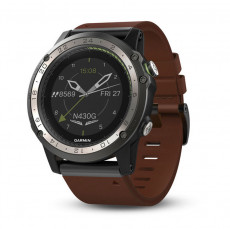 Garmin D2 Charlie Titanium Bezel with Leather and Silicone Bands Watch - 010-01733-31