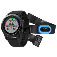 Garmin Fenix 5 GPS Watch Black Sapphire with Black Band, Performer Bundle
