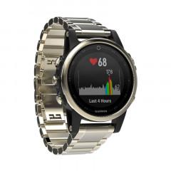 Garmin Fenix 5S GPS Watch Champagne Sapphire with Metal Band
