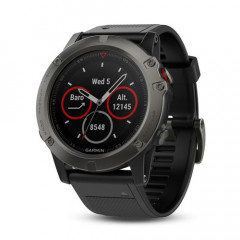 Garmin Fenix 5X GPS Watch with Heart Rate Monitor Sapphire Edition Slate gray with black band