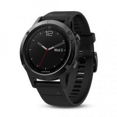 Garmin Fenix 5 GPS Watch Sapphire Edition Black with Black Band