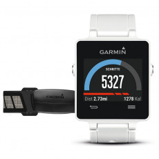 Garmin Vivoactive Smartwatch with HRM Bundle White GPS Connected