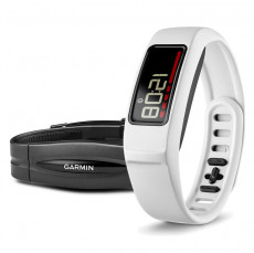 Garmin Vivofit 2 Fitness Band White Bundle with Heart Rate Monitor