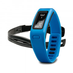 Garmin Vivofit Fitness Band Blue Bundle with Heart Rate Monitor