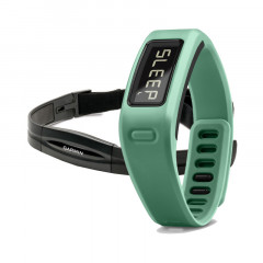 Garmin Vivofit Fitness Band Teal Bundle with Heart Rate Monitor