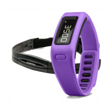 Garmin Vivofit Fitness Band Purple Bundle with Heart Rate Monitor