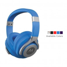Motorola Moto Pulse Max Over-Ear Wired Sports Headphone Blue