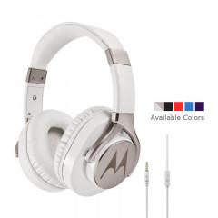 Motorola Moto Pulse Max Over-Ear Wired Sports Headphone White