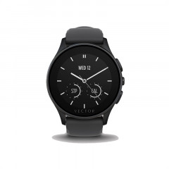 Vector Luna Black/Black Silicone Smart Watch