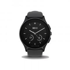 Vector Luna Black/Black Silicone Smart Watch