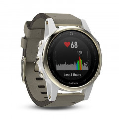 Garmin Fenix 5S GPS Watch Champagne Sapphire with Gray Suede Band