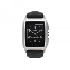 Vector Meridian Steel with Black Leather Strap Smart Watch