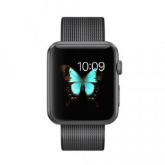 Apple Watch Sport 42mm Space Gray Aluminum Case with Black Woven Nylon - MMFR2