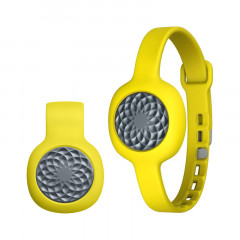 UP Move By Jawbone Activity Tracker Slate Rose With Yellow Slim Strap