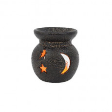 Crescent Black Mini Aroma Candle Diffusers