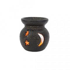 Crescent Black Mini Aroma Candle Diffusers