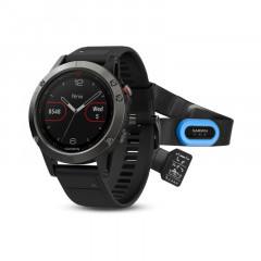 Garmin Fenix 5 GPS Watch Slate Gray with Black Band, Performer Bundle