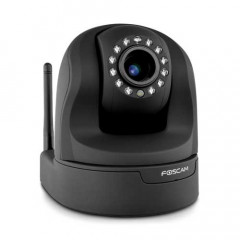 Foscam Plug and Play Indoor Wireless IP Pan/Tilt 720P 1.3MP Camera FI9826PB - Black