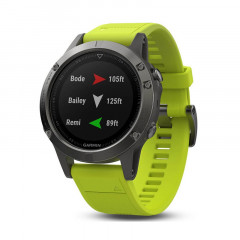 Garmin Fenix 5 GPS Watch Slate Gray with Amp Yellow Band