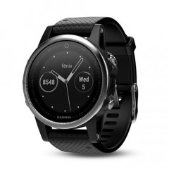 Garmin Fenix 5S GPS Watch Silver with Black Band