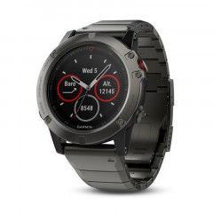 Garmin Fenix 5X GPS Watch with Heart Rate Monitor Slate Gray Sapphire with Metal Band