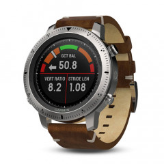 Garmin Fenix Chronos with GPS and Heart Rate Monitor (Vintage Style Leather Watch Band)
