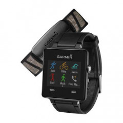 Garmin Vivoactive Smartwatch with HRM Bundle Black GPS Connected