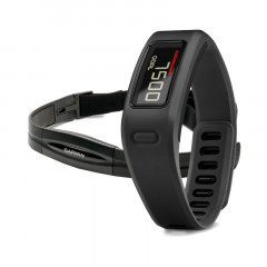 Garmin Vivofit Fitness Band Black Bundle with Heart Rate Monitor