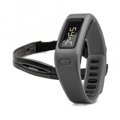 Garmin Vivofit Fitness Band Slate Bundle with Heart Rate Monitor