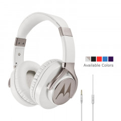 Motorola Moto Pulse Max Over-Ear Wired Sports Headphone White