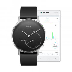 Nokia Steel Activity and Sleep Tracker Watch Black / Black Dial