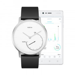 Nokia Steel Activity and Sleep Tracker Watch White / White Dial
