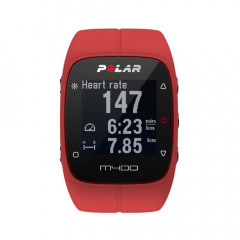 Polar M400 GPS Running Watch Red