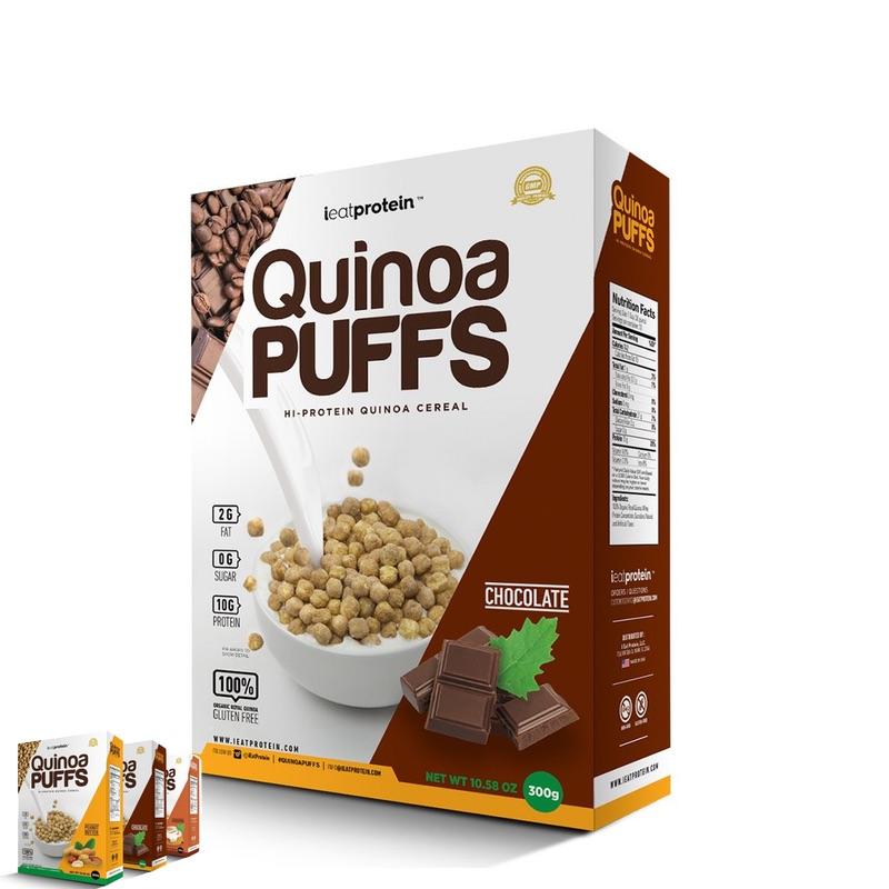 ieatprotein Quinoa Puffs 300g Chocolate