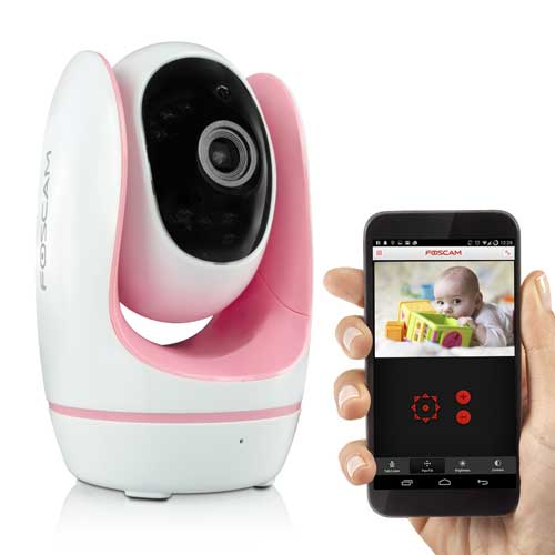 Foscam Wireless IP Baby Monitor Camera (Pink) Night Vision
