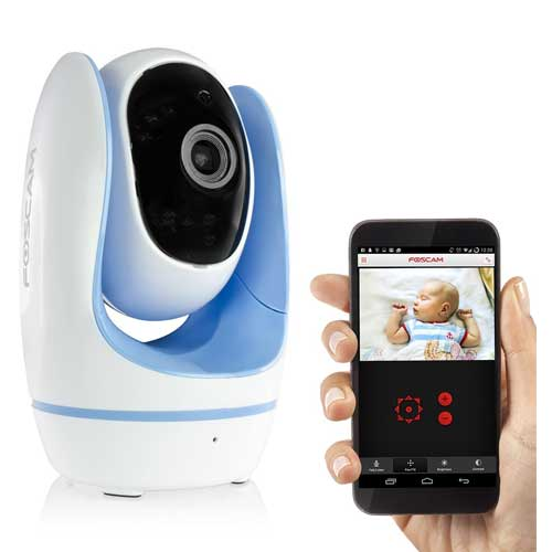 Foscam Wireless IP Baby Monitor Camera with Night Vision Blue