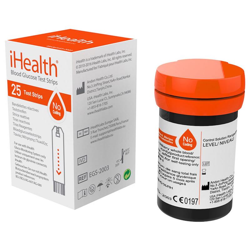 iHealth Blood Glucose Test Strips (EGS-2003)
